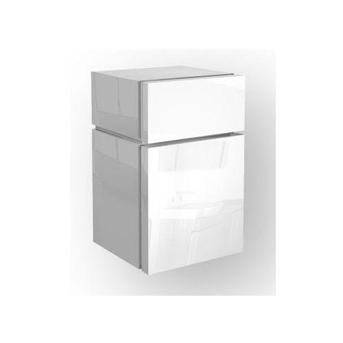 Produkt z kategorii- regały łazienkowe - KOŁO szafka wisząca boczna niska Varius biała - półsłupek 881