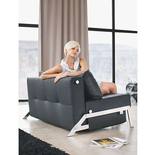 Istyle Innovation Istyle Cubed Sofa Rozkładana Czarna Skóra Ekologiczna 140x104 cm (4250268301722)