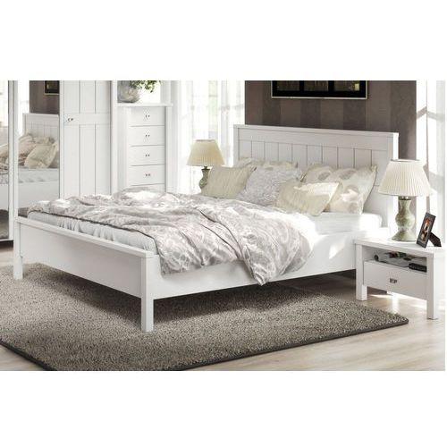 LONDON królewskie romantyczne białe łóżko 140cm - 140 cm ze sklepu Meble Pumo
