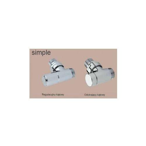 Zawór regulacyjny i odcinający kompletny zestaw Simple
