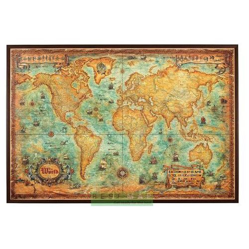 Świat. Mapa ścienna stylizowana w ramie 1:30,3 mln wyd. , produkt marki Ray&Co