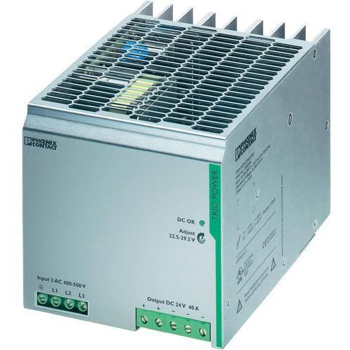 Artykuł Zasilacz na szynach Phoenix Contact TRIO-PS/3AC/24DC/40, 24V, 40 A z kategorii transformatory
