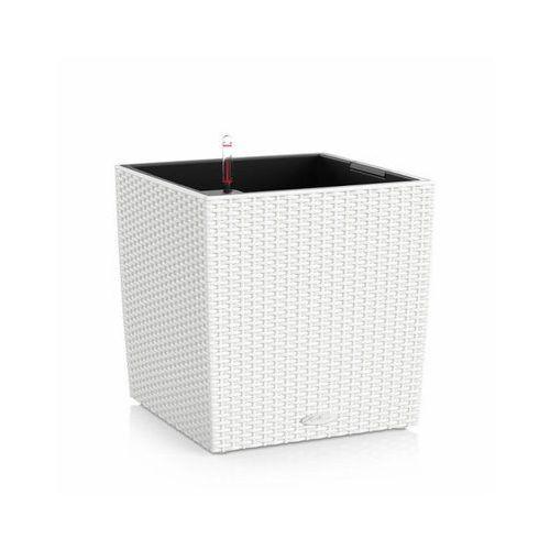 Donica  CUBE COTTAGE 2012 - biała - 40 cm - all inclusive - biały, produkt marki Lechuza