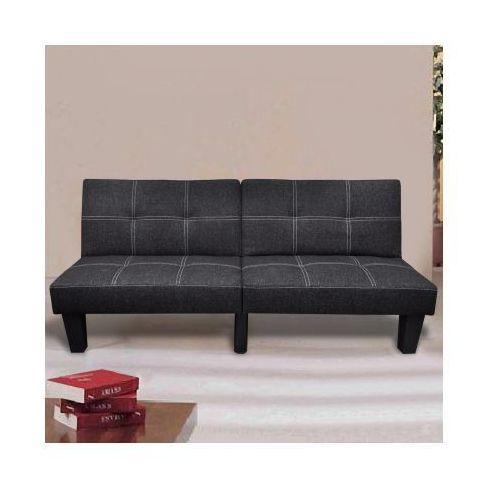 Sofa rozkładana w kolorze czarnym, vidaXL