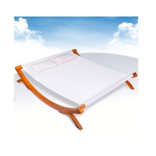 Leżanka wypoczynkowa podwójna w kolorze beżowym - produkt dostępny w VidaXL