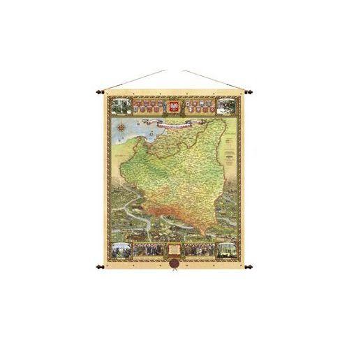 Polska 1918-1939 mapa ścienna 66,5x88 cm , produkt marki Pergamena