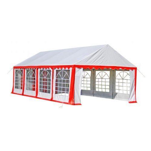 Pawilon ogrodowy 8x4m, czerwony, produkt marki vidaXL