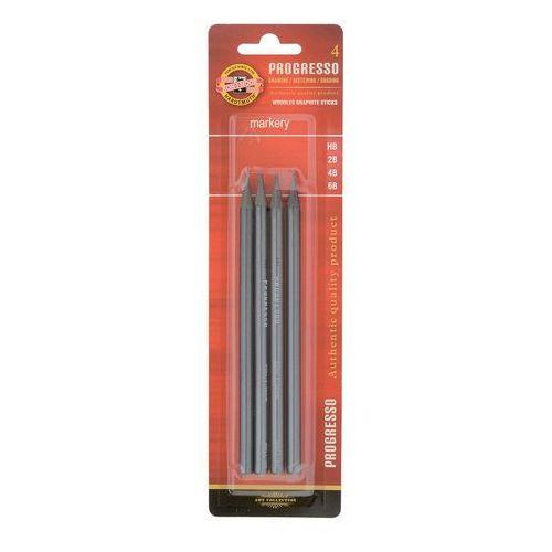 Ołówki Bezdrzewne Progresso HB,2B,4B,6B 4szt - oferta [15364d7e37d534f1]