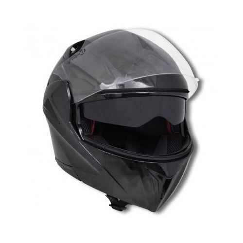 Czarny kask na motor z podwójną szybą (M), marki vidaXL do zakupu w VidaXL