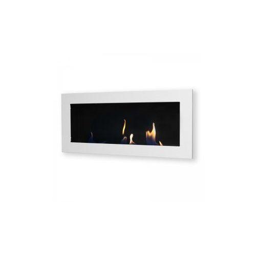 Biokominek dekoracyjny prostokątny 90x40 biały Flat - oferta [05f8e20621a2b50e]