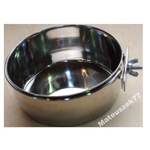 MISKA METALOWA PRZYKRĘCANA na pokarm, wodę średnica - 12,5cm
