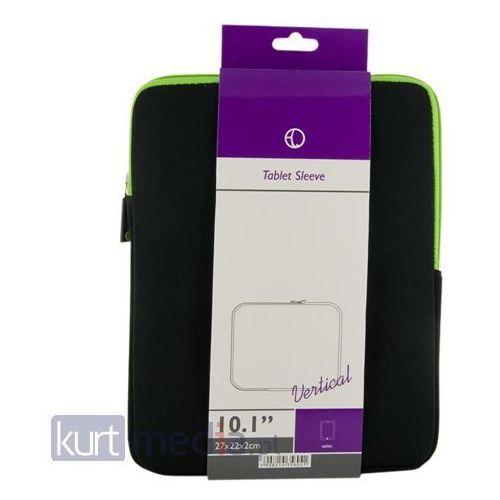 4World Etui piankowe wertykalne do tabletu 10.1' czarno-zielone, kup u jednego z partnerów