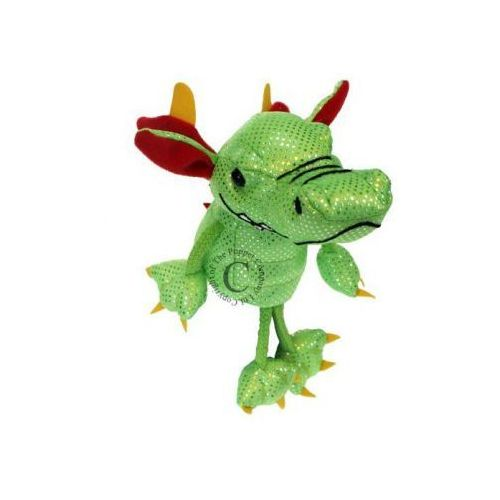 Zielony smok - pacynka na palec (pacynka, kukiełka)
