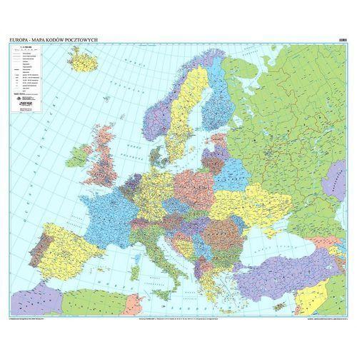 Europa. Mapa ścienna kodów pocztowych 1:3,75 mln wyd. , produkt marki Eko-Graf