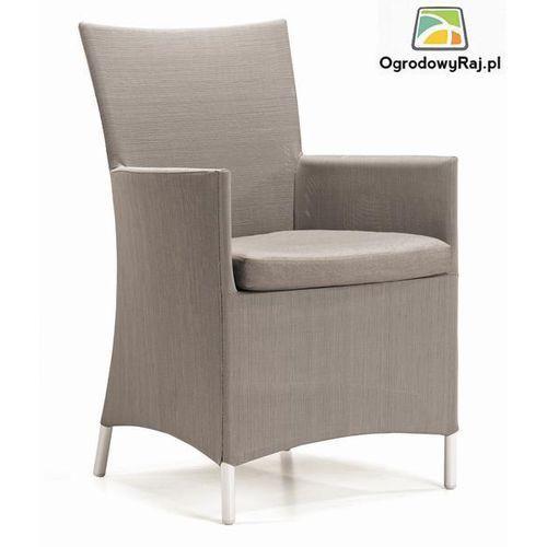 Fotel ogrodowy z podłokietnikami COMO 48x60x91 cm. COMO-FOT.TX-PIASKOWY ze sklepu OgrodowyRaj.pl