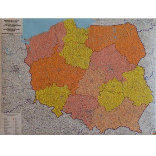 Polska. Mapa ścienna kodów pocztowych w arkuszu 1:700 000 wyd. Freytag & Berndt, produkt marki Freytag&Berndt