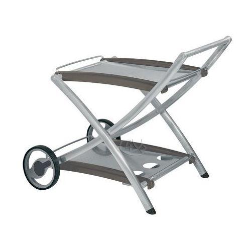 Wózek aluminiowy srebrny (stół ogrodowy)