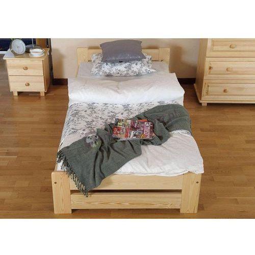 Jednoosobowe łóżko sosnowe Viva ze sklepu Meblobranie.pl