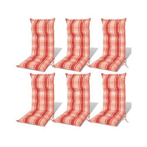 Poduszki na krzesła ogrodowe, fotele, pomarańczowoczerwone, 6 sztuk - sprawdź w VidaXL