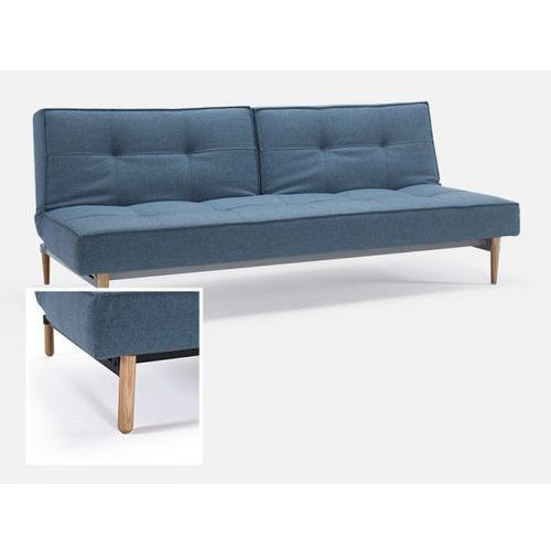 Sofa Splitback niebieska 525 nogi jasne drewno Stem  741010525-741041-1-2, INNOVATION iStyle