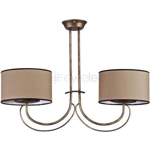Artykuł AMARA lampa wisząca 2 x 60W E14 STAL LAKIEROWANA / ABAŻUR z kategorii lampy wiszące