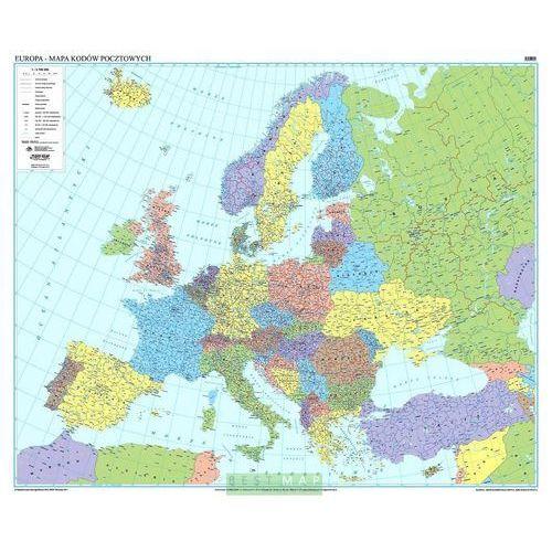 Europa. Mapa ścienna kodów pocztowych 113 x 90 cm wyd. , produkt marki Eko-Graf