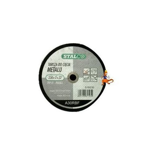 Oferta TARCZA DO CIĘCIA METALU PŁASKA 115x2, 5x22MM FIRMA STALCO (S-59115)