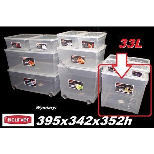 CURVER 33L 162580 pojemnik magazynowy z pokrywą 395x342x352h - produkt dostępny w organizery.eu