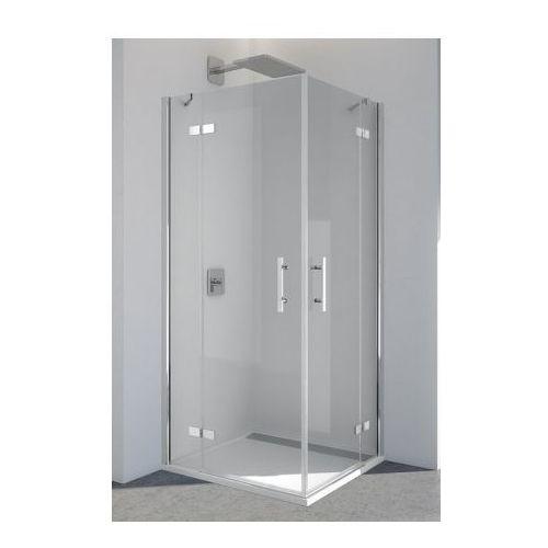 SANSWISS PUR drzwi 75 narożne dwuczęściowe lewe z profilem przyściennym PUE2PG0751007 (drzwi prysznicowe)