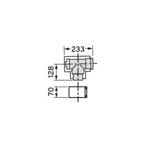 Oferta Vaillant Trójnik rewizyjny 87°, koncentryczny (80/125), PP z kat.: ogrzewanie