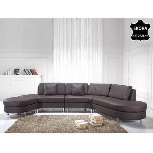 Luksusowa sofa kanapa brazowa skórzana COPENHAGEN, Beliani