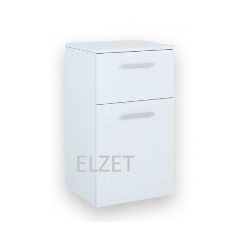ELITA Kwadro White komoda (półsłupek) 162326 - produkt z kategorii- regały łazienkowe