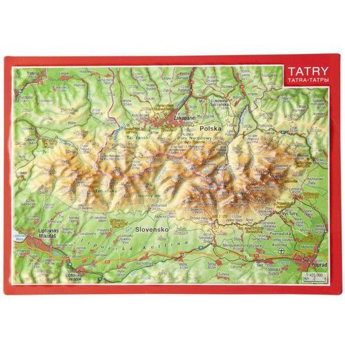 Pocztówka Tatry mapa plastyczna, produkt marki Georelief GbR