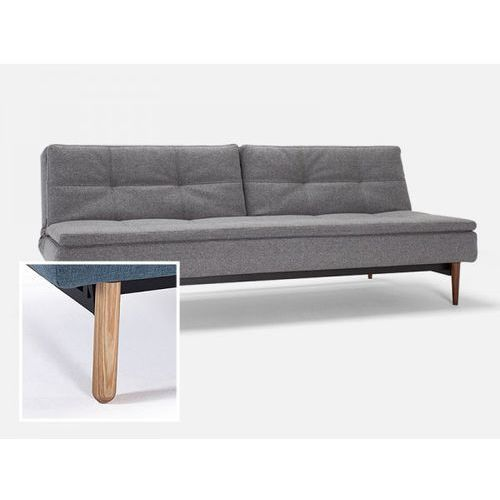 Sofa Dublexo szara 563 nogi jasne drewno Stem  741050563-741041-1-2, INNOVATION iStyle