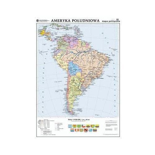 Ameryka Południowa. Mapa polityczna / konturowa. Mapa ścienna Ameryki Południowej, produkt marki Nowa Era