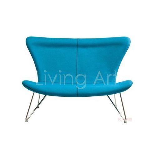 Sofa Miami Turquoise 2-Seater, kare design