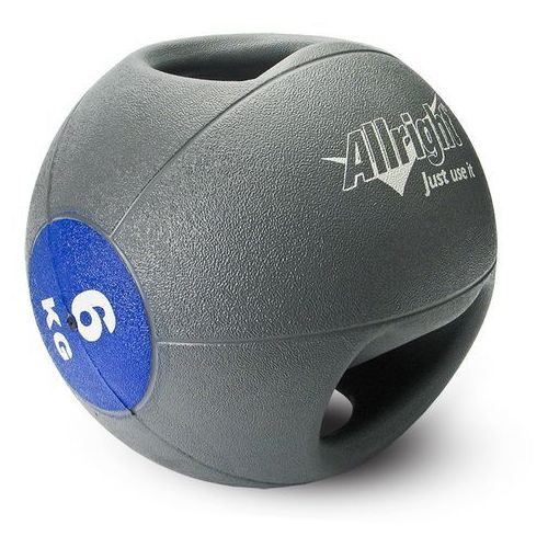Piłka lekarska z uchwytami  6kg, produkt marki Allright