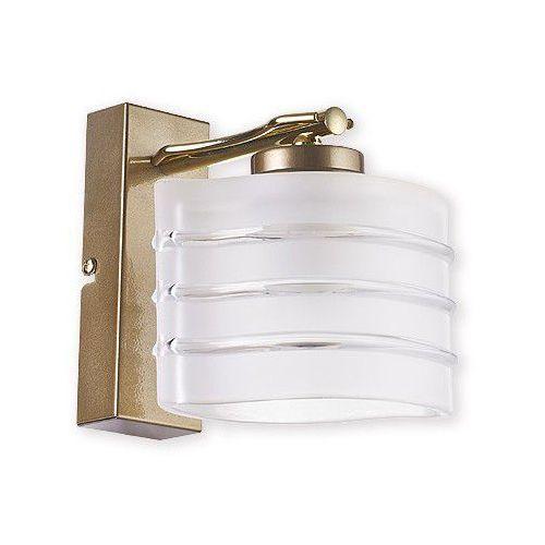 Produkt  Kobra kinkiet 1 połysk mosiądz + złoty perłowy O1510 ZP (O1510 ZP), marki Lemir