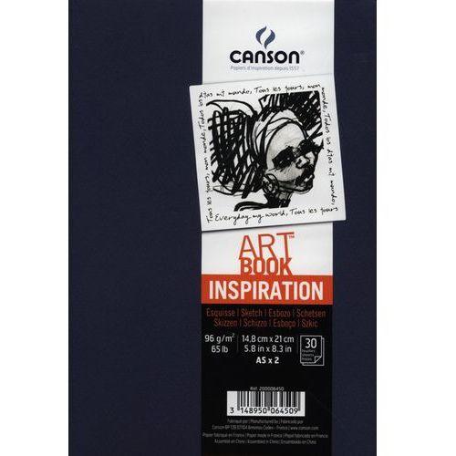 Szkicownik A5 Canson Artbook Inspiration 2x30 kartek granatowy - oferta [252dee0471027521]