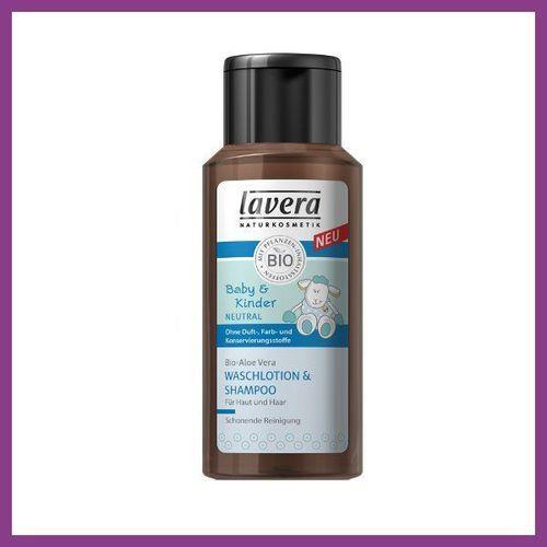 Produkt z kategorii- pozostałe kosmetyki do włosów - LAVERA Płyn pod prysznic i do włosów dla dzieci i niemowląt z bio-olejem z wiesiołka i bio-aloesem