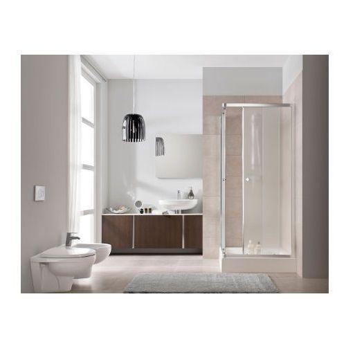 KOŁO FIRST Drzwi prysznicowe 80cm, profile srebrny połysk, szkło transparentne ZDRP80222003 (drzwi prysznic