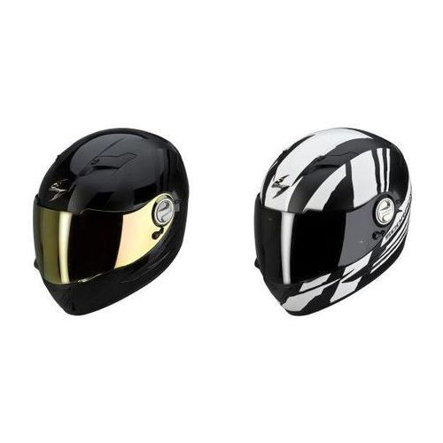SCORPION KASK EXO-500 AIR THUNDER WH/MAT, BK/MAT BLACK, Scorpion