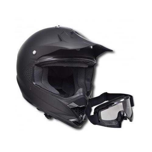 Kask do motocross (S) , bez szybki + gogle, vidaXL