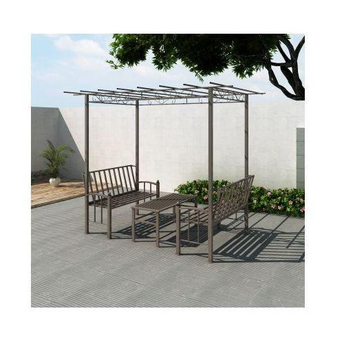 Altanka ogrodowa, dwie ławeczki i stół., produkt marki vidaXL