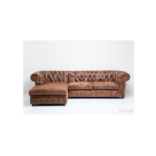 Sofa narożnikowa Oxford 3-Seater+Recamiere Vintage Eco, kare design