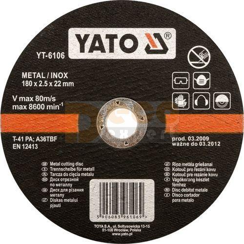 YT-6101 tarcza do cięcia stali nierdzewnej 115x1,2 ze sklepu NarzedziaSklep.pl