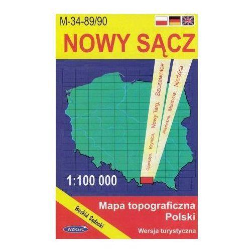 M-34-89/90 Nowy Sącz. Mapa topograficzno-turystyczna 1:100 000 wyd. WZ-Kart, produkt marki Wojskowe Zakłady Kartograficzne