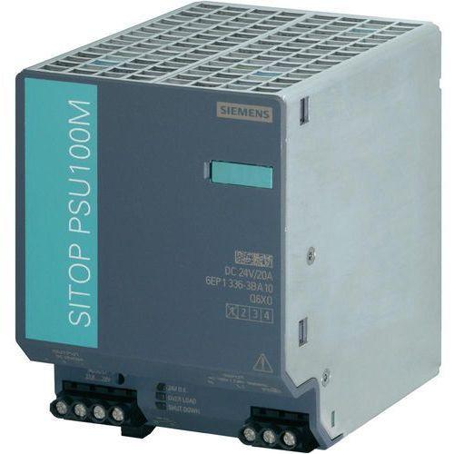 Artykuł Zasilacz na szynę Siemens SITOP PSU100M, 24 V, 20 A z kategorii transformatory