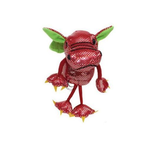 Czerwony smok - pacynka na palec (pacynka, kukiełka)