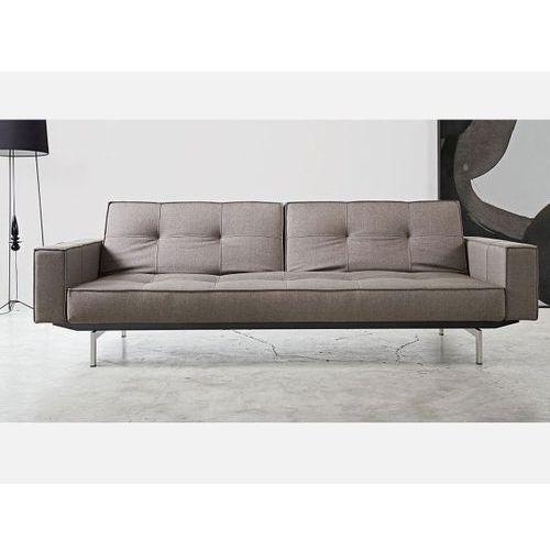 Sofa Splitback z podłokietnikami szara 216 nogi chromowane  741010020216-741010020-0-2, INNOVATION iStyle